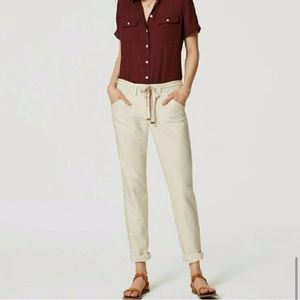 NWT Loft linen Safari belted pants 6